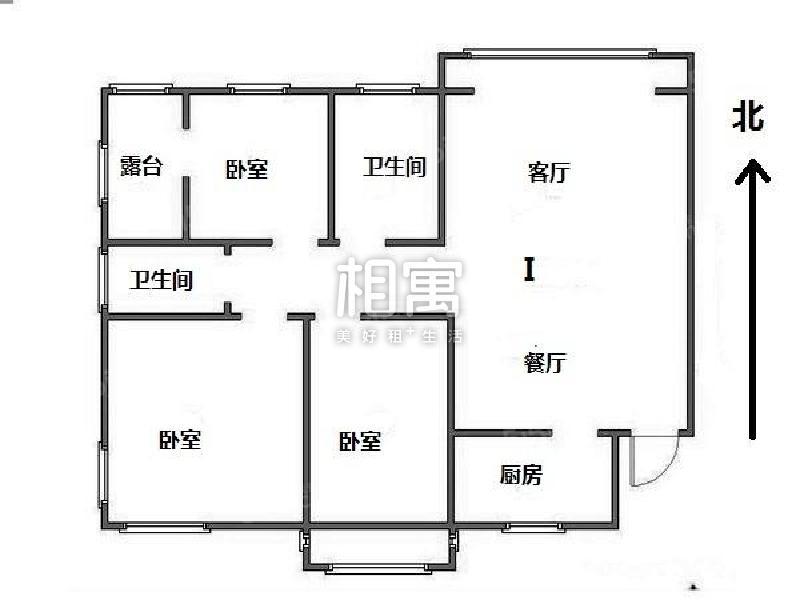 整租·浦口其它·明发滨江新城一期·3居室