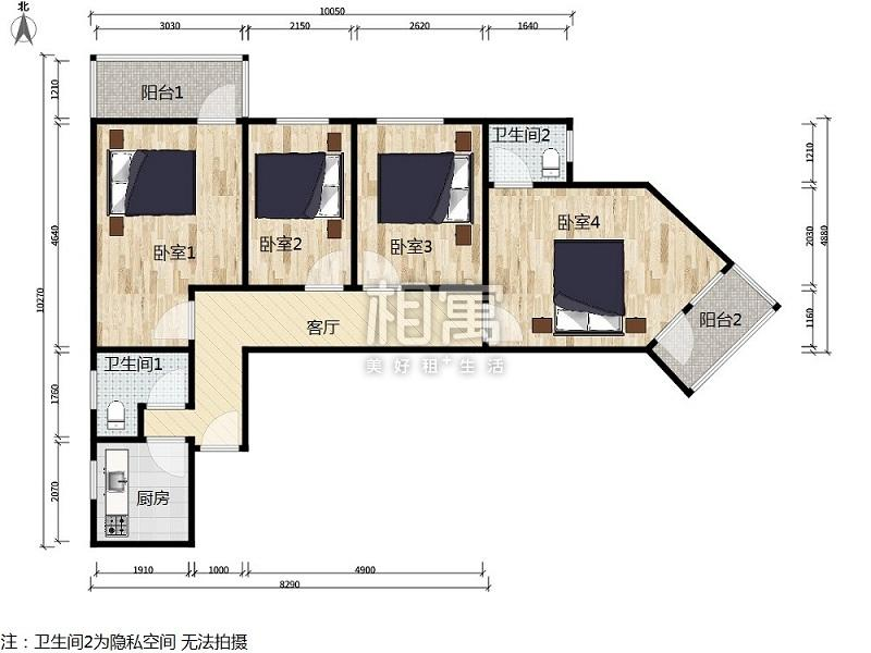 石佛营·石佛营东里·4居室·次卧2