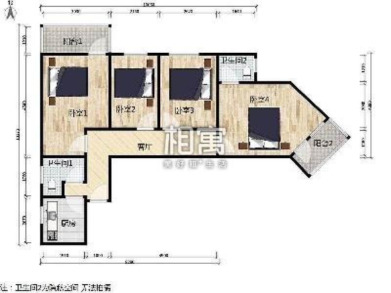 石佛营·石佛营东里·4居室·次卧1